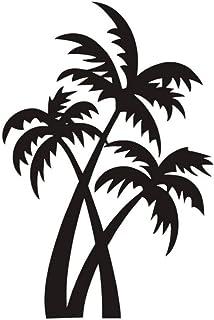Arbre De Noix De Coco Sticker Mural Pour Salon Amovible Brown Vinyle Palmiers Stickers Muraux Pour Pépinière Décoration De...