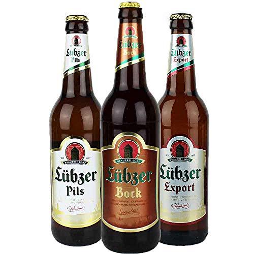 3er Set Lübzer Bier aus Mecklenburg - von.BierPost.com