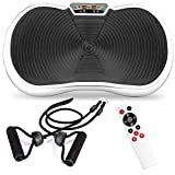 Best Choice Products Vibration Plate Exercise Machine Full Body Fitness Platform for Weight Loss & Toning w/Resistance Bands, 10 Preset Workouts, Remote Control - White
