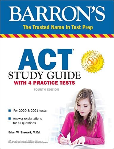 ACT Study Guide with 4 Practice Tests Barron s Test Prep product image