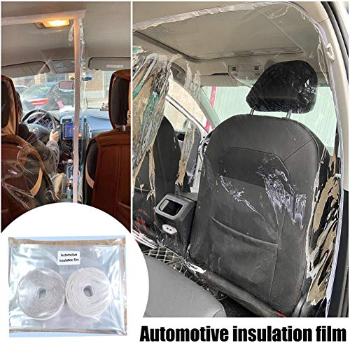 Acptxvh Auto Taxi Isolation Film, Selbstklebe-Partition Vorhang Einfache Installation, komplett geschlossene Isolation Vorhang Schutzfolie für Fahrer,Clear,A