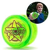 YoyoFactory SPINSTAR Yo-Yo - Verde (Genial para Principiantes, Juego Yoyo Moderno, Cuerda e Instrucciones Incluidas)