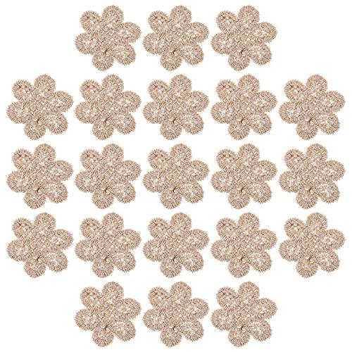EXCEART 25 Piezas de Flores Rosas DIY Parches para Coser Parches para Planchar Ropa Única Parches para Manualidades Flores para Coser Insignias para Ropa Material de Reparación Bordado