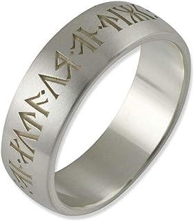 Herr der Ringe//Hobbit Schmuck Siegelring aus 925 Silber Zwerg Dwalin Antik