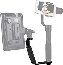 EANDE L-Shape Bracket Handheld Grip Holder with Dual Side Cold Shoe Mounts for Video Light Flash  for DSLR Camera Durable