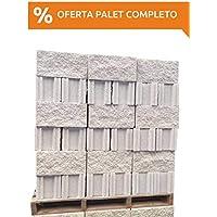 Amagard Bloques de hormigón Hueco Split Blanco 40 x 20 x 20cm. 3 Pallet completos de 90 Piezas Cada uno (270 uds en Total)