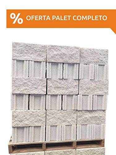 Amagard Bloques de hormigón Hueco Split Blanco 40 x 20 x 20