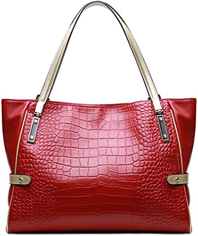 ASHIJIN Women Genuine Leather Bag Shoulder Bag Large Capacity Bag Casual Handbag Real Ladies Handbags