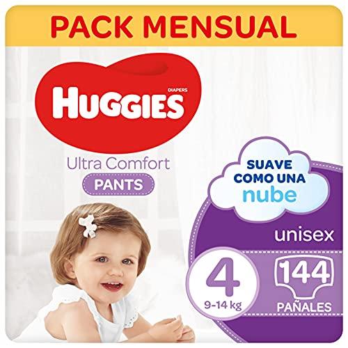 Huggies® Ultra Comfort Pants Pañal Braguita Talla 4 (9-14 kg) – 144 pañales, 4 packs de 36 uds