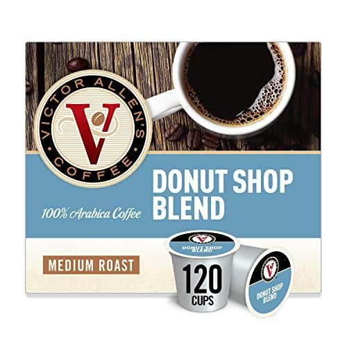 Victor Allen's Coffee Donut Shop Blend, Medium Roast, 120 Count Single Serve Coffee Pods for Keurig K-Cup Brewers