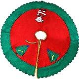 THE TWIDDLERS Falda Roja para Arbol de Navidad con Diseño Fiestas de Navidad y Decorar Fiestas - 90 CM de Diámetro.
