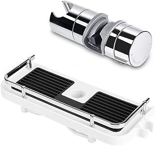 Soporte de ducha de mano de repuesto Estante de almacenamiento para barra de ducha/sin perforaciones/Adecuado para barra d...