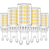 Bombillas LED G9 6W Blanco Natural 4000K, Repuesto Lámparas Halógenas 50W 60W, LED G9 ángulo Haz de 360° Sin Parpadeo, No...