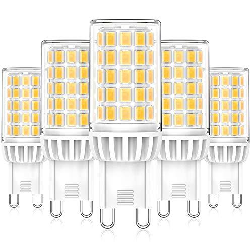 Eco.Luma G9 LED Lampen, 6W 550LM 4000K Neutralweiß Leuchtmittel Glühbirnen, Ersatz für 50W 60W Halogenlampen, Kein Flackern 360°Abstrahlwinkel LED G9 Mais Birne, Nicht Dimmbar AC 220-240V, 5er Pack