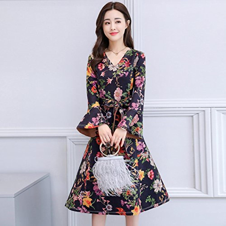 Gaoxu-Frauenkleidung GX im im im Herbst und Winter Temperament weibliche koreanischen Version Wildleder Kleid langärmelige Kleid,Rosa rot,XL B078SM74Z8  Hochwertige Materialien d72923