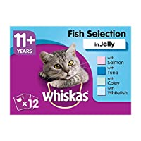 Delicious Senior cat food slices for a convenient and fresh meal, wet cat food pouches for cats aged 11 years onwards made with carefully prepared recipes Easy to eat and optimal to digest for your ageing cat Comes with balanced mineral levels to sup...