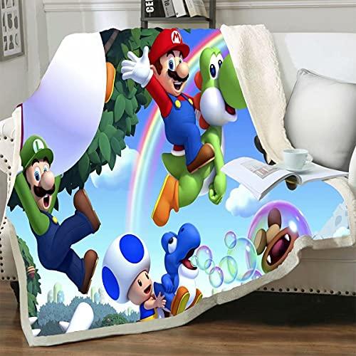 Coral Fleece Stoff Super Mario Decke auf dem Bett Sommer Klimaanlage Schlafbezug Dekorative Bettwäsche