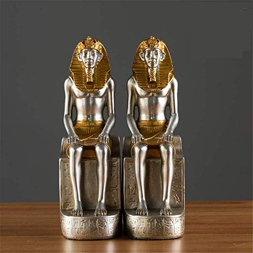 LUISONG YH-KE Decoration Vintage Egyptian Pharaoh Book Standing Home Study Bookcase Decoration Book by Book Block Book Block Book Gift Collectible Figurines