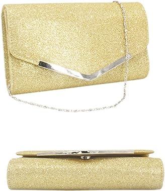 Lurrose Abendtasche Handtasche Hochzeit Party Crossbody Taschen Clutch Handtasche Einfache Kette Tasche für Frauen Damen (sch
