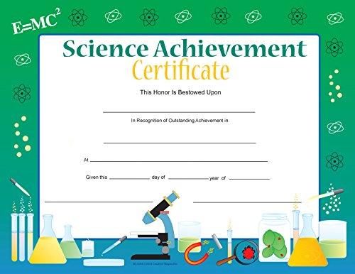 Science Achievement Recognition Certificates