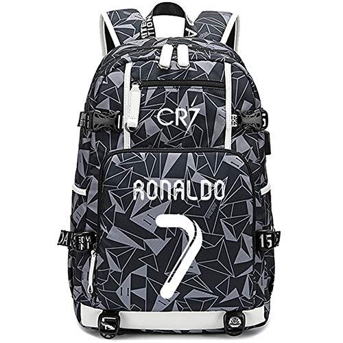 Mochila multifunción con diseño de jugador de fútbol Star Cristiano Ronaldo...