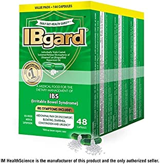 IBgard® for Irritable Bowel Syndrome (IBS) Symptoms Including, Abdominal Pain, Bloating, Diarrhea, Constipation, 48 Capsules (3 Pack)