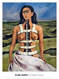 The Broken Column, 1944 by Frida Kahlo, Art Print Poster, Paper Size 24' x 18' Image Size 21' x 16.5' (1157)