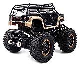 Nixi888 Bigfoot Monstro - Mando a distancia para radio de coche 2,4 G controlado, Drift Racing Camión todo terreno RC Monster Truck, regalo Crawler vehículo para niños adultos (color: 2 baterías)