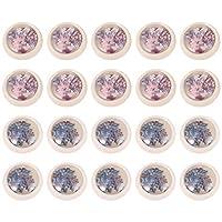 Lurrose 蝶ネイルスパンコールネイルパーツスパンコール可愛いネイルアートパーツネイルホロカラフルなシールステッカーホログラムスパンコール200枚アソートカラースタイル3