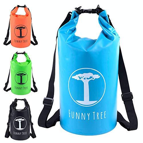 Funny Tree® Drybag. (30L blau) Wasserdichter (IPx6), verbesserter DryBag, schwimmfähig. Inklusive wasserdichter Handy-Hülle   Stand Up Paddle   Wassersport   Ski-Fahren   Snow-Boarden   Tauchen