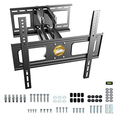 RICOO S1544, TV Wandhalterung Schwenkbar Neigbar, Universal 37-65 Zoll Flachbild-Fernseher Curved LCD LED TV-Halterung, bis max. 40Kg & VESA 400x400