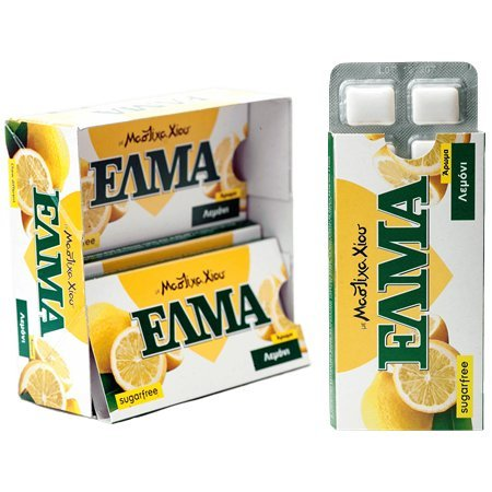 Chewing Gum with Chios Mastiha & Lemon 14gr 5 Packs X 10 Pieces - Xios Mastic