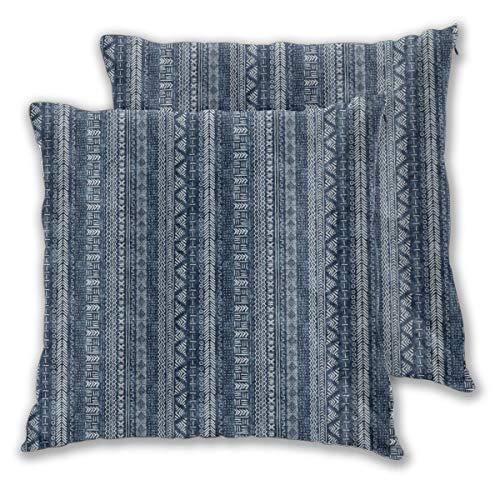 Mud Cloth Stripe Kissenbezug, quadratisch, 45 x 45 cm, 2 Stück 45x45 cm 2Pack Eine Farbe