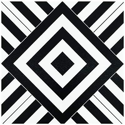Achim Home Furnishings RTFTV60420 Retro 12x12 Self Adhesive Vinyl Floor Tile-Geometric-20 Tiles/20 sq. ft, Geometric