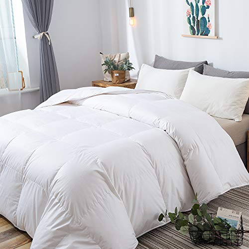 DOWNCOOL Luxurious White Goose Duck Down Comforter - 1200 Thread Count...