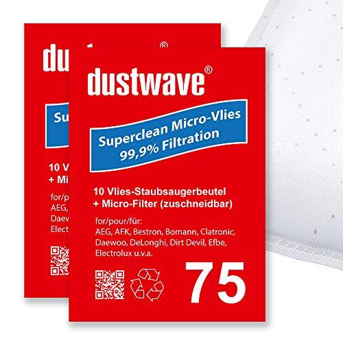 40 Staubfilterbeutel (Superpack) geeignet für Hugin - Foehn - 3705 Bodenstaubsauger - dustwave® Markenstaubbeutel - Made in Germany + inkl. Micro-Filter