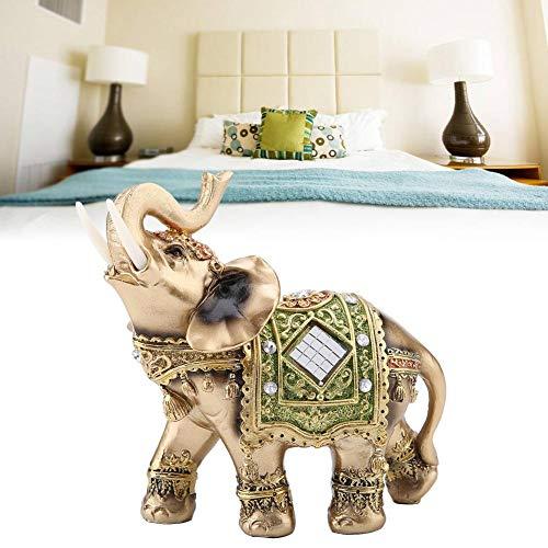 Hilitand - Figura decorativa, diseño de elefante verde