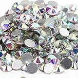 Super Glitter Crystal AB Rhinestones sin fijación en caliente SS3-SS50 Flatback Strass Costura y tela Prendas de vestir Nail Art Rhinestones Decoraciones-Crystal AB, mezcla ss3-ss30 1000pcs