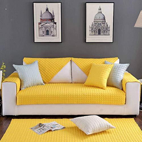 Jonist Funda de sofá de algodón Simple, Antideslizante Four Seasons, Elegante Funda de Almohada para cojín, Lavable a máquina-C-70X210cm