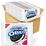 12 resealable 14.03 oz packs of OREO Double Stuf Gluten Free Chocolate Sandwich Cookies. These certified gluten free Double Stuf OREO cookies are filled with nearly 2x the amount of smooth creme and taste like the original chocolate sandwich cookie y...