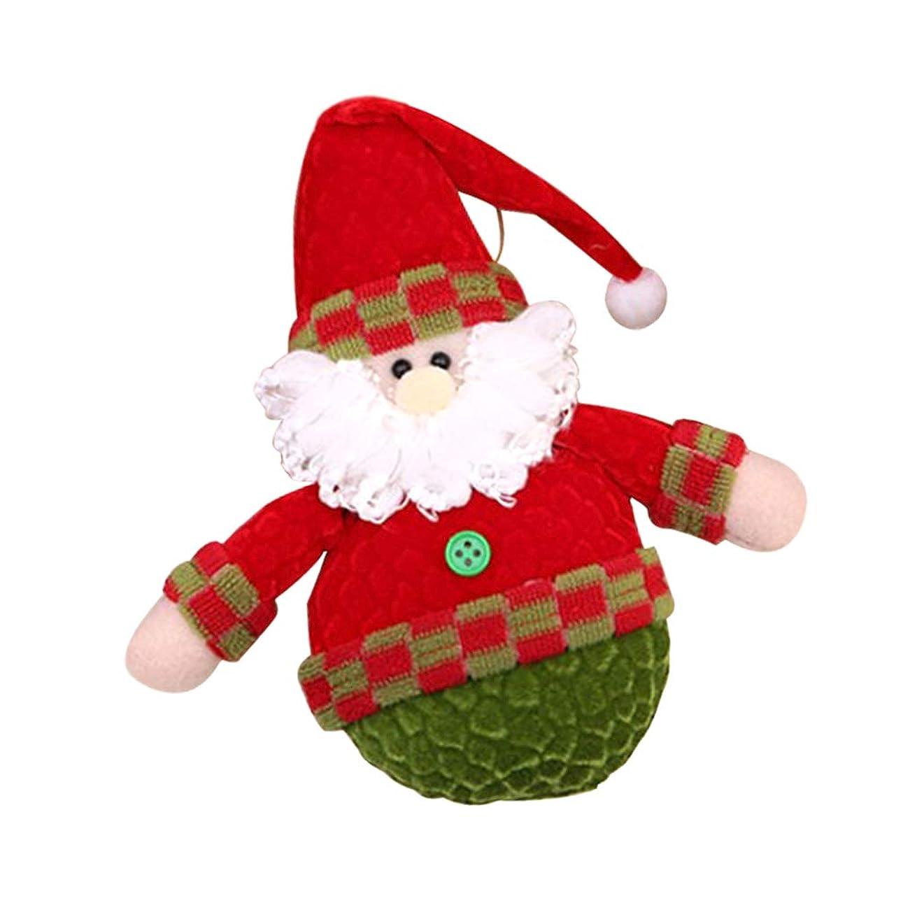 サロン送信する送信するクリスマス ぬいぐるみ人形 クリスマスツリー飾り パーティー 吊り装飾 3タイプ選べ - サンタクロース