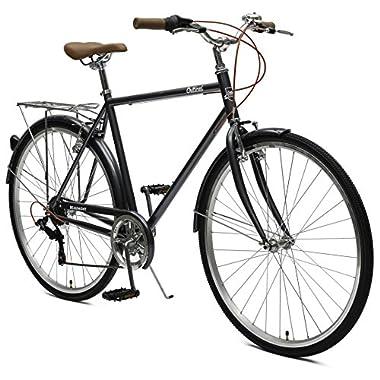 Critical Cycles Beaumont-7 Seven Speed Men's Urban City Commuter Bike; 58cm, Graphite