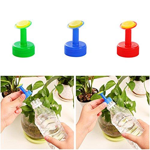 UxradG 5x Kunststoff Selbstwässernder Gerät, Gartenarbeit Pflanzen Wasser Wasserhahn Aufsatz Spray, für weiche Drink Flasche