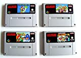 SNES - Super Mario Spiele Set: Mario Kart + Mario World + Mario Allstars + Yoshis Island