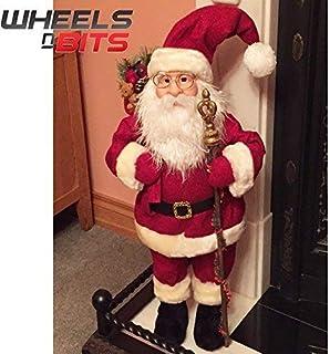 NUEVO XL grande 70cm Santa Claus Papá Noel Figura decoración navideña Utensilios de chimenea corto abrigo