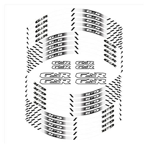 wjyfexble Etiquetas engomadas de la Motocicleta Neumático Anillo Interior Rueda Pegatinas Decal Moto Neumático Rim Decoración de la decoración Cinta Compatible con Suzuki GSR WYJHN (Color : 180215)