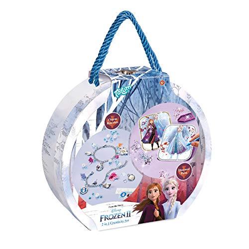 Totum Disney Frozen II Juego Creativo 2 en 1 para Hacer Joyas en Caja de Regalo