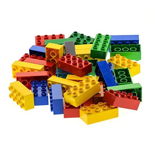 35 LEGO DUPLO 8er BASIC BAUSTEINE STEINE 2x4 Noppen bunt gemischt k1