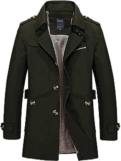 トレンチコート メンズ ジャケット アウター コート スプリング 秋冬春 スタイリッシュ ボタン 綿 テラジャケ テラード シンプル カジュアル ビジネス