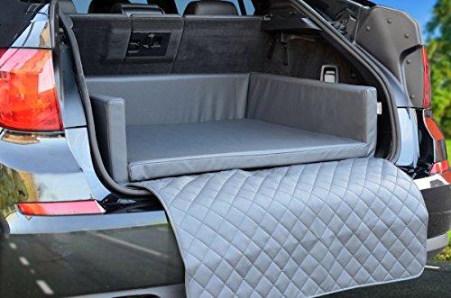PadsForAll Autoschondecke - Kofferraum Schutzdecke - Auto - Hundebett in Grau Kunstleder mypado®